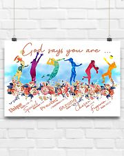Volleyball God Says 17x11 Poster poster-landscape-17x11-lifestyle-17