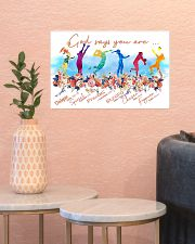 Volleyball God Says 17x11 Poster poster-landscape-17x11-lifestyle-21