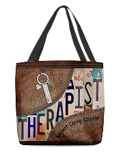 Therapist All-over Tote front