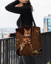 Bengal Cat Leather All-over Tote aos-all-over-tote-lifestyle-front-05