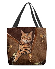 Bengal Cat Leather All-over Tote back