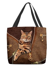 Bengal Cat Leather All-over Tote front