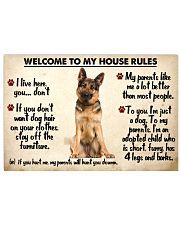 German Shepherd - House Rules Unframed Horizontal  17x11 Poster front