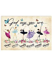 God Says You Are -Ballet- Horizontal Poster  17x11 Poster front