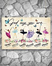 God Says You Are -Ballet- Horizontal Poster  17x11 Poster poster-landscape-17x11-lifestyle-13