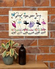 God Says You Are -Ballet- Horizontal Poster  17x11 Poster poster-landscape-17x11-lifestyle-23