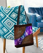 Nurse Leather Pattern Print All-over Tote aos-all-over-tote-lifestyle-front-01