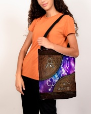 Nurse Leather Pattern Print All-over Tote aos-all-over-tote-lifestyle-front-07
