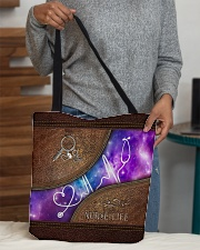 Nurse Leather Pattern Print All-over Tote aos-all-over-tote-lifestyle-front-10