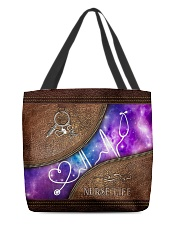 Nurse Leather Pattern Print All-over Tote front