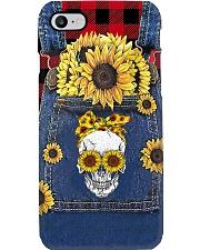Skull Sunflower  Phone Case i-phone-8-case