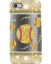 Softball - Gold Phone Case i-phone-8-case