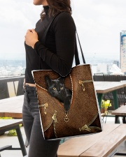 Black Cat Feather All-over Tote aos-all-over-tote-lifestyle-front-04