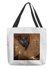 Black Cat Feather All-over Tote back