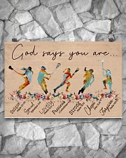 God Says You Are - Lacrosse- Horizontal Poster  17x11 Poster poster-landscape-17x11-lifestyle-13