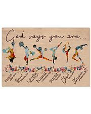 God Says You Are -Cheers and Gymnastics-Horizontal 17x11 Poster front