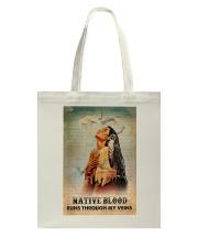 Native American Blood In Veins Tote Bag tile