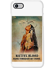 Native American Blood In Veins Phone Case tile