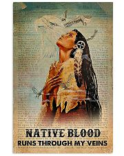 Native American Blood In Veins 11x17 Poster front
