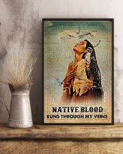 Native American Blood In Veins 11x17 Poster lifestyle-poster-3