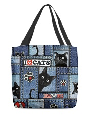 Cat Jean All-over Tote front