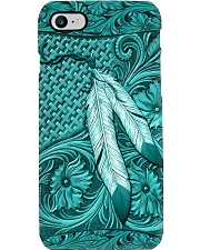 Tourquouse Native American India Feather Phone Case i-phone-8-case