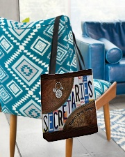 Secretaries Respect Caring Courage All-over Tote aos-all-over-tote-lifestyle-front-01