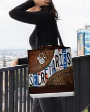 Secretaries Respect Caring Courage All-over Tote aos-all-over-tote-lifestyle-front-05