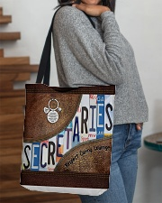 Secretaries Respect Caring Courage All-over Tote aos-all-over-tote-lifestyle-front-09