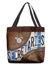 Secretaries Respect Caring Courage All-over Tote back