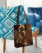 Faith Leather pattern print All-over Tote aos-all-over-tote-lifestyle-front-01