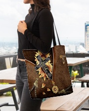 Faith Leather pattern print All-over Tote aos-all-over-tote-lifestyle-front-04