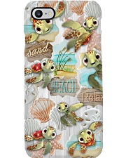 Funny Turtle - Sand Beach Relax  Phone Case i-phone-8-case