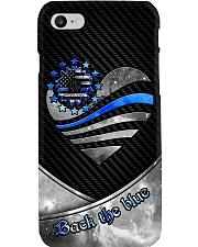 Back The Blue Sunflower Phone Case i-phone-8-case