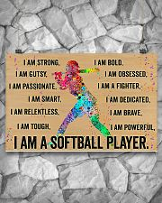 I Am A Softball Player 17x11 Poster poster-landscape-17x11-lifestyle-13