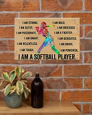 I Am A Softball Player 17x11 Poster poster-landscape-17x11-lifestyle-23