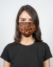 Custom Horse V16 2 Layer Face Mask - Single aos-face-mask-2-layers-lifestyle-front-17