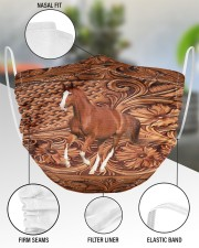 Custom Horse V16 2 Layer Face Mask - Single aos-face-mask-2-layers-lifestyle-front-51