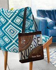 Custom Name Nurse Respect Caring Courage All-over Tote aos-all-over-tote-lifestyle-front-01