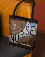 Custom Name Nurse Respect Caring Courage All-over Tote aos-all-over-tote-lifestyle-front-02