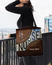 Custom Name Nurse Respect Caring Courage All-over Tote aos-all-over-tote-lifestyle-front-05