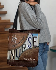 Custom Name Nurse Respect Caring Courage All-over Tote aos-all-over-tote-lifestyle-front-09