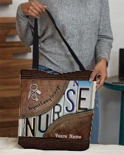 Custom Name Nurse Respect Caring Courage All-over Tote aos-all-over-tote-lifestyle-front-10