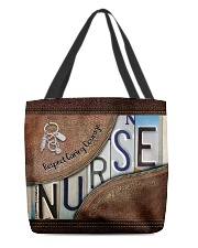 Custom Name Nurse Respect Caring Courage All-over Tote back