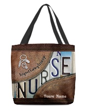Custom Name Nurse Respect Caring Courage All-over Tote front