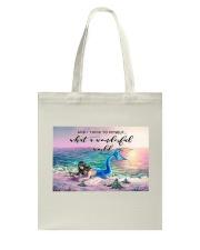 Mermaid And Turtle Tote Bag tile