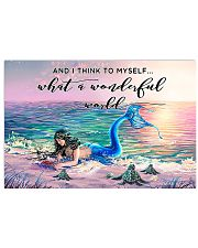 Mermaid And Turtle 17x11 Poster front