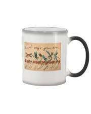 Dragonfly God Says Color Changing Mug tile