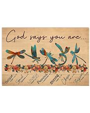 Dragonfly God Says 17x11 Poster front