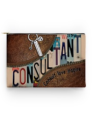 Teacher leather pattern print accessory pouch  Accessory Pouch - Standard back